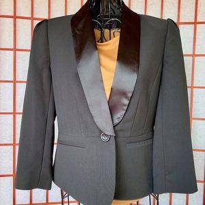 Forever 21 Satin Collar Fitted Tuxedo Blazer NWOT